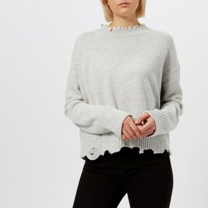 Helmut Lang distressed marl sweater 2503